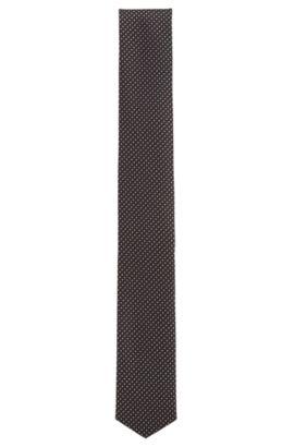 Gestippelde stropdas van waterafstotende zijde uit de Travel Line-collectie: 'Tie 6 cm traveller', Lichtroze