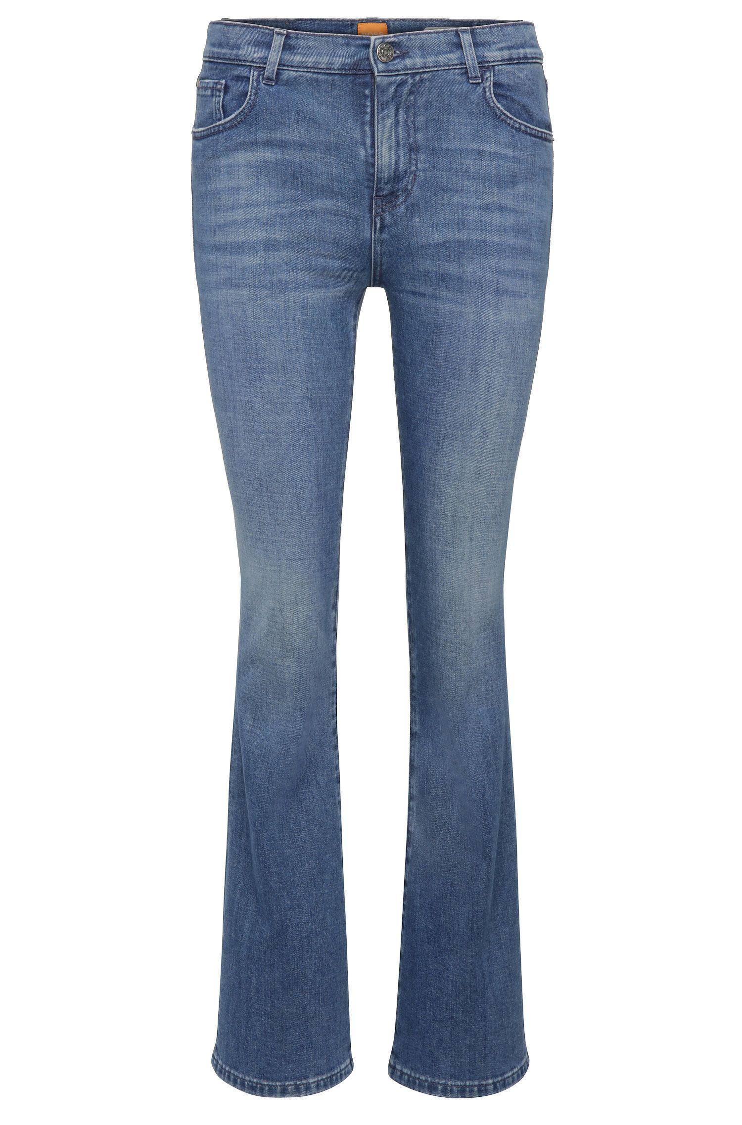 Slim-Fit Jeans aus elastischem Baumwoll-Mix mit Flared Leg: ´Orange63 Chester`
