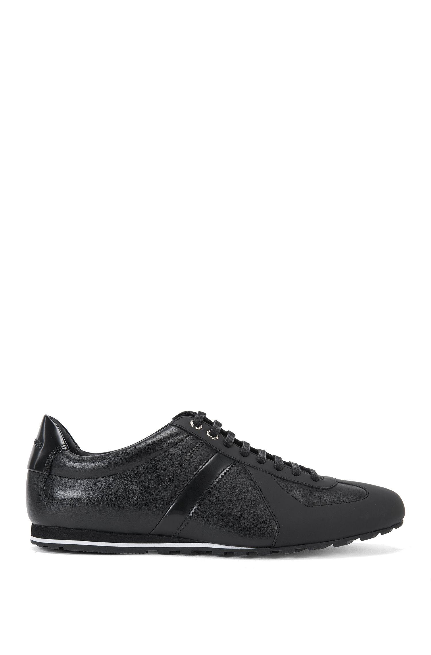Sneakers aus Leder mit Lack-Details: 'Reset_Lowp_lt'