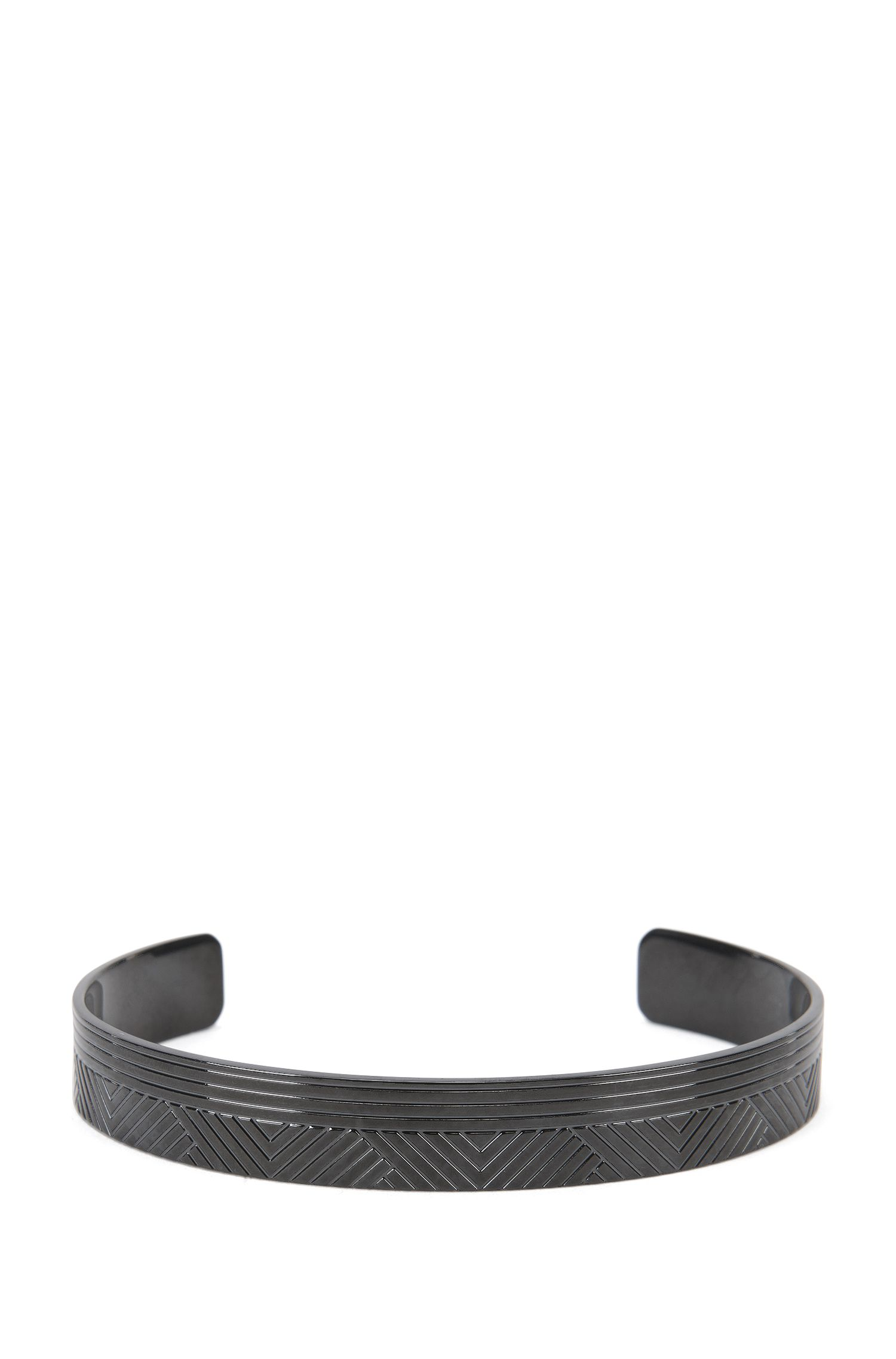 Bangle in blackened brass: 'Berto'