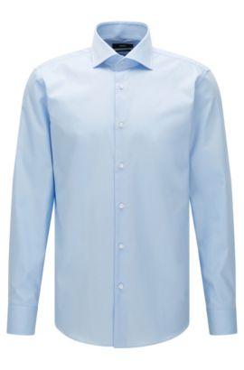 Camicia regular fit in tinta unita, in cotone facile da stirare: 'Gert', Celeste