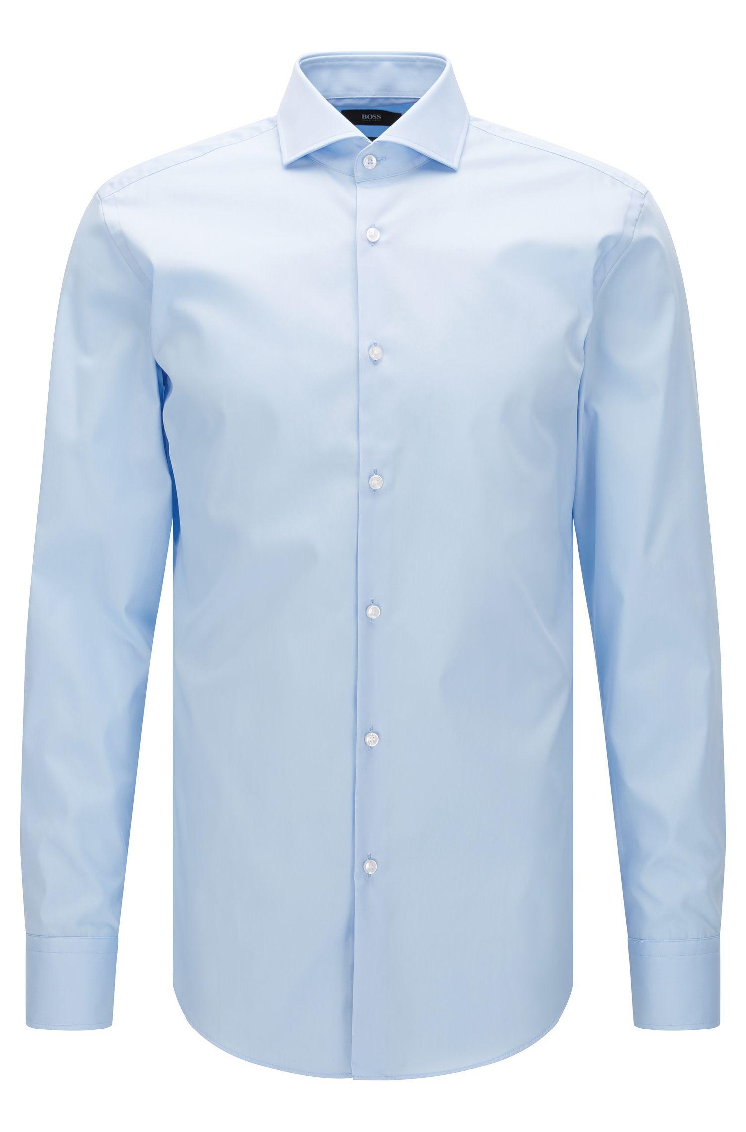 Camisa lisa slim fit en algodón: 'Jerrin'