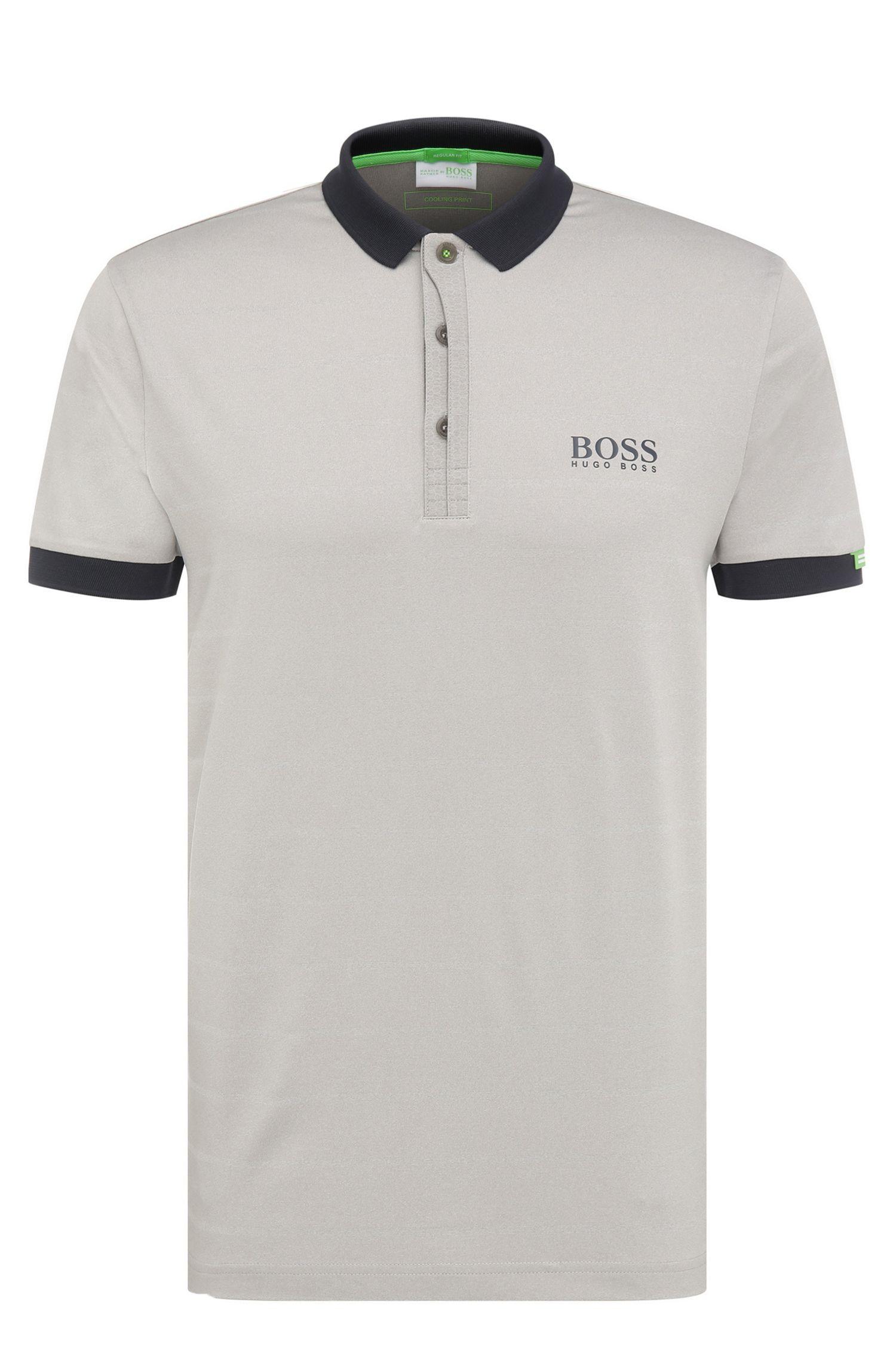 Polo de golf Regular Fit en matières extensibles mélangées: «Paddy MK1»
