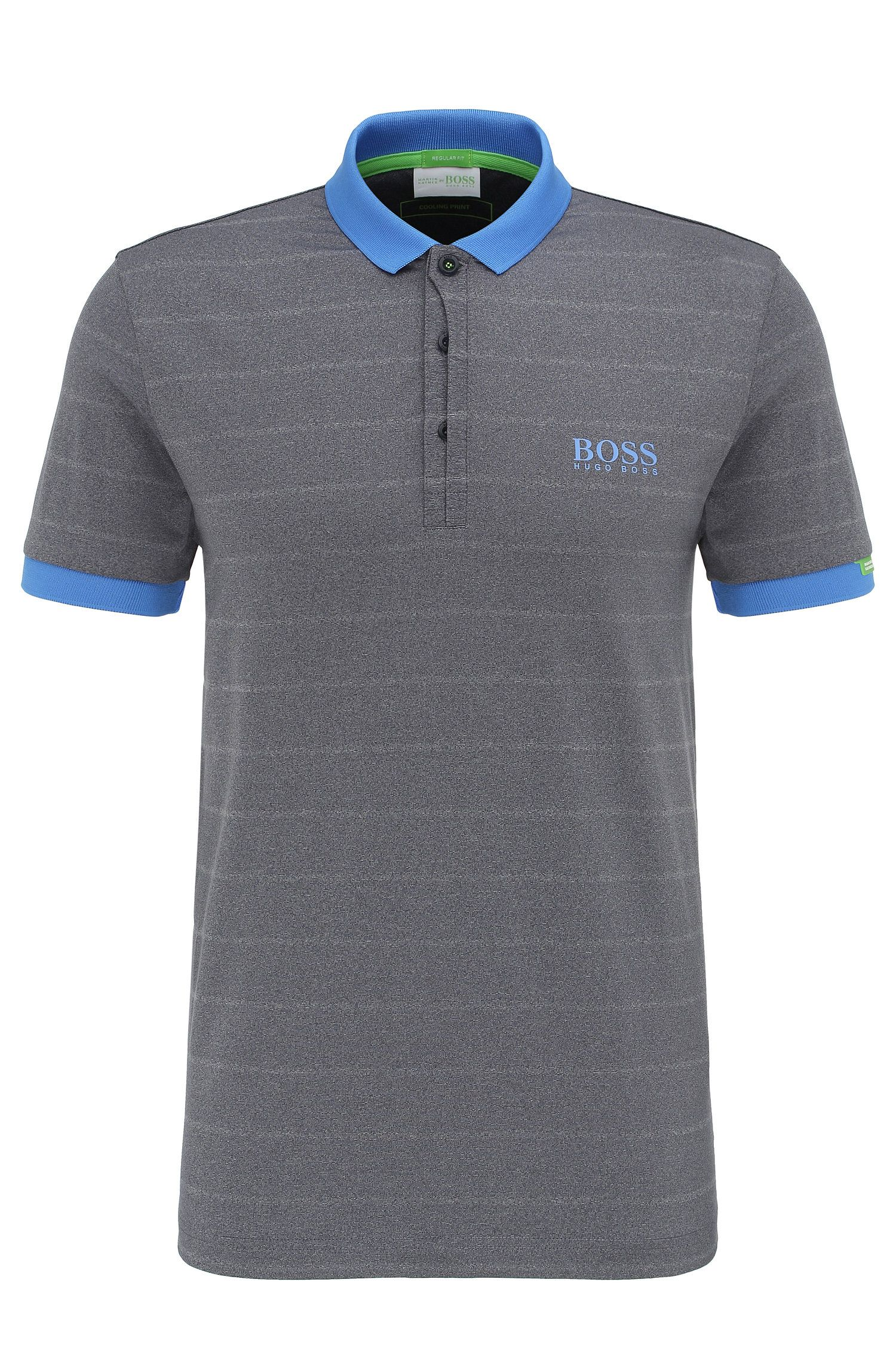 Regular-fit golf polo shirt in stretchy fabric blend. 'Paddy MK 1'