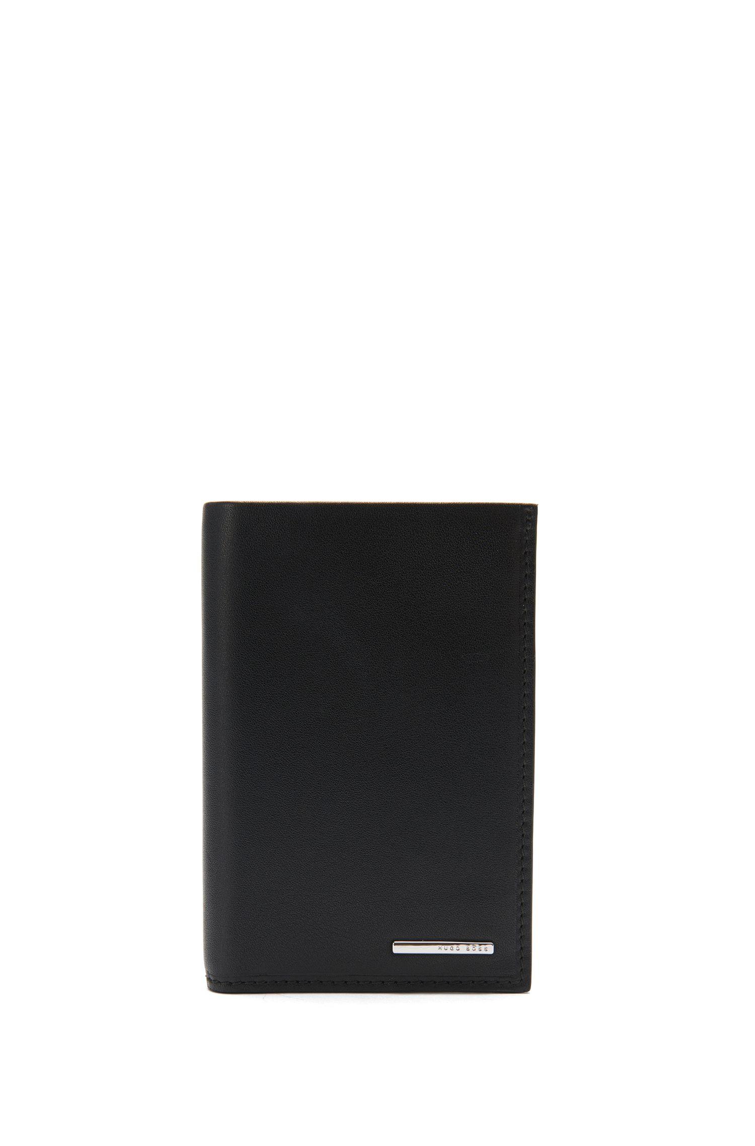 Klapp-Geldbörse aus natürlich genarbtem Leder