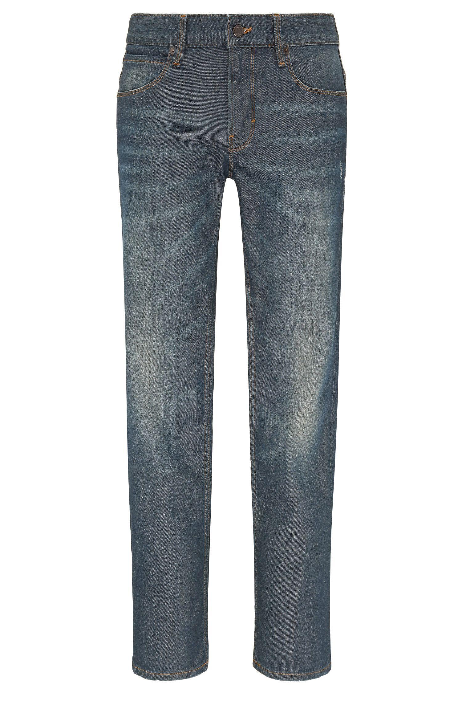 Verwassen slim-fit jeans van elastische katoen: 'Orange63'