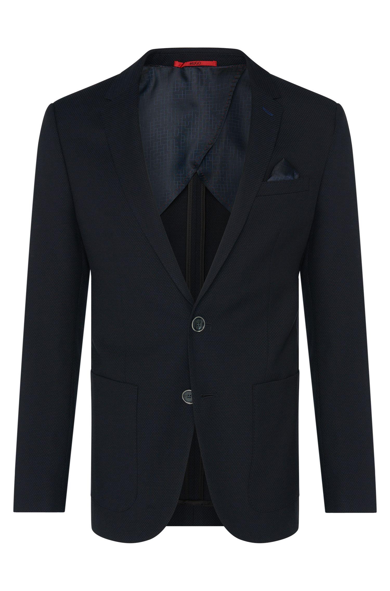 Giacca slim fit in misto cotone elasticizzato con lana vergine: 'C-Hamilton1'