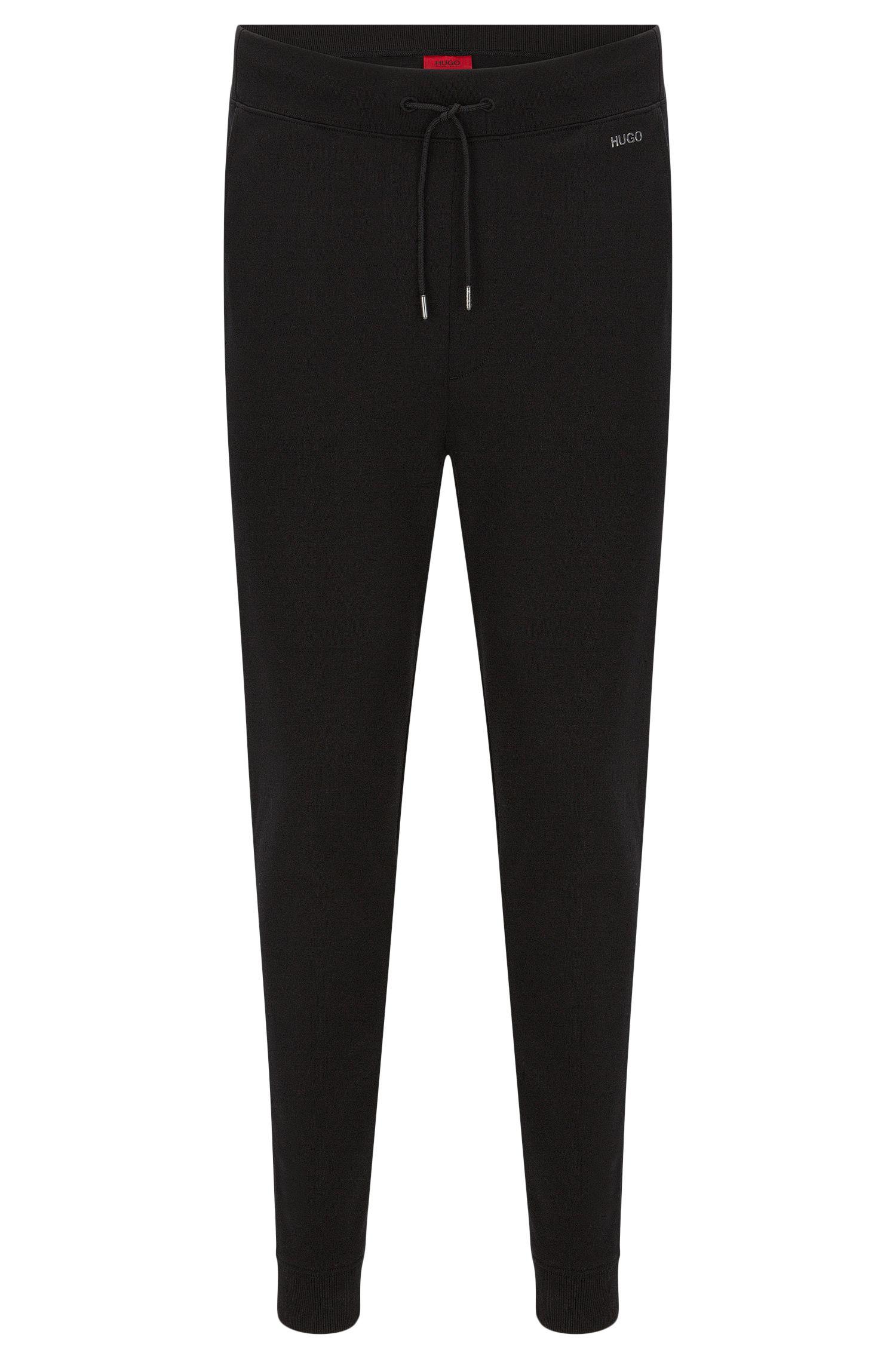 Pantaloni in felpa regular fit in cotone con coulisse in vita: 'Derkins'