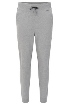 Pantaloni in felpa regular fit in cotone con coulisse in vita: 'Derkins', Grigio scuro