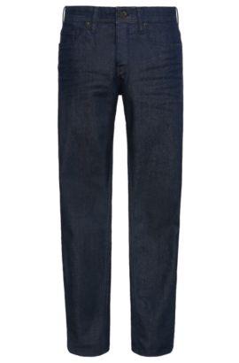 Tapered-Fit Jeans aus Stretch-Baumwolle: ´Orange90`, Dunkelblau