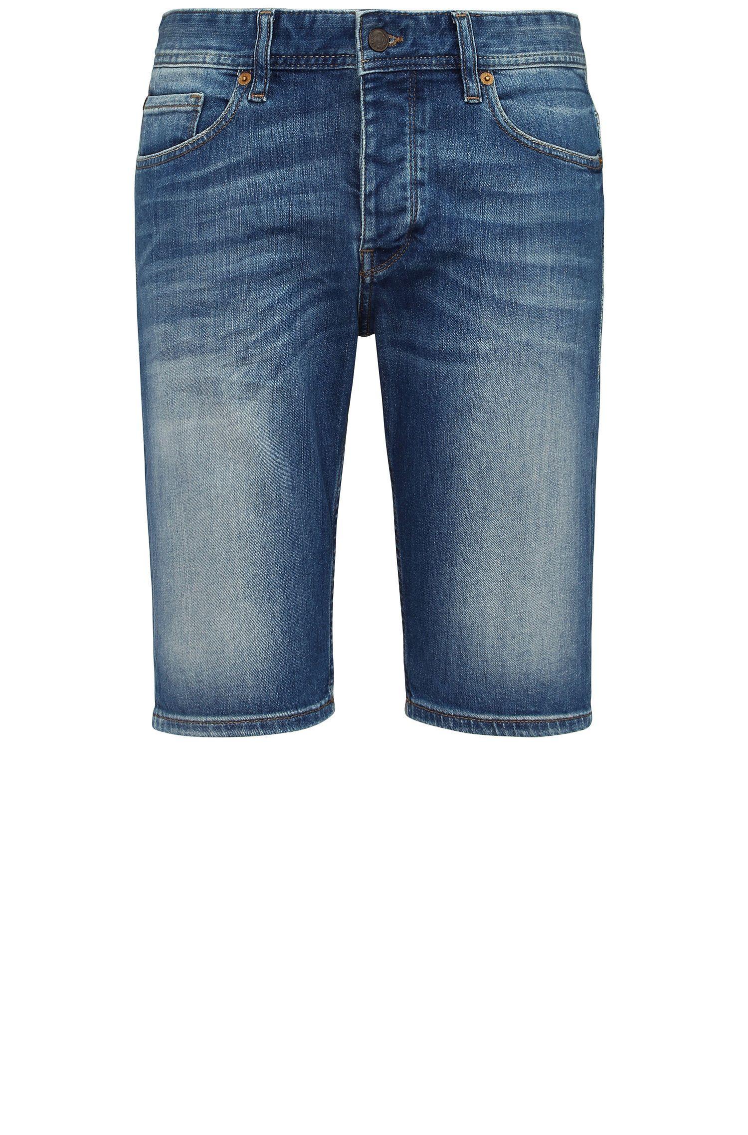 Tapered-Fit Jeans-Shorts aus elastischer Baumwolle: ´Orange90 Short`