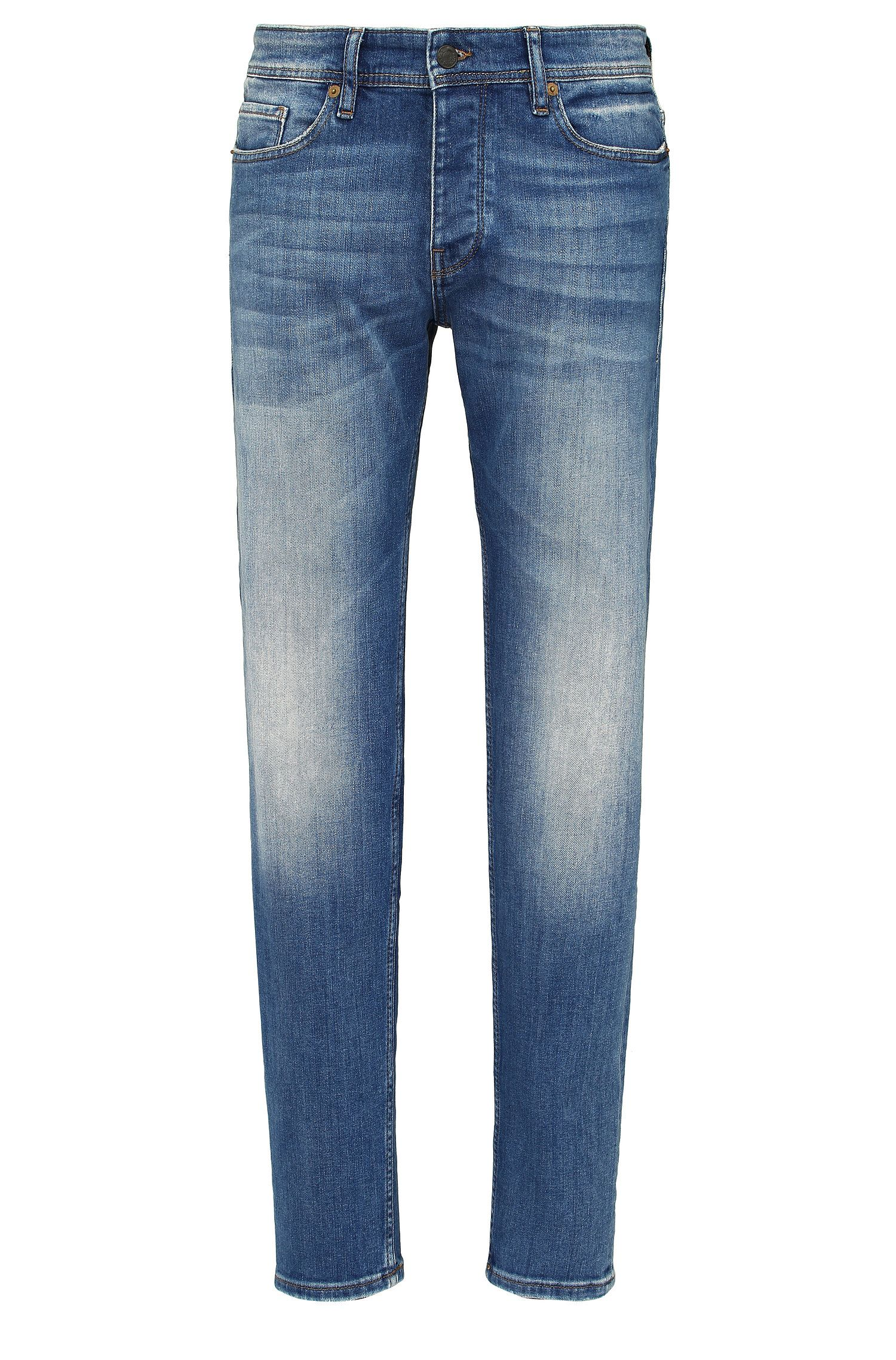 Jeans Tapered Fit en coton extensible : « Orange90 »