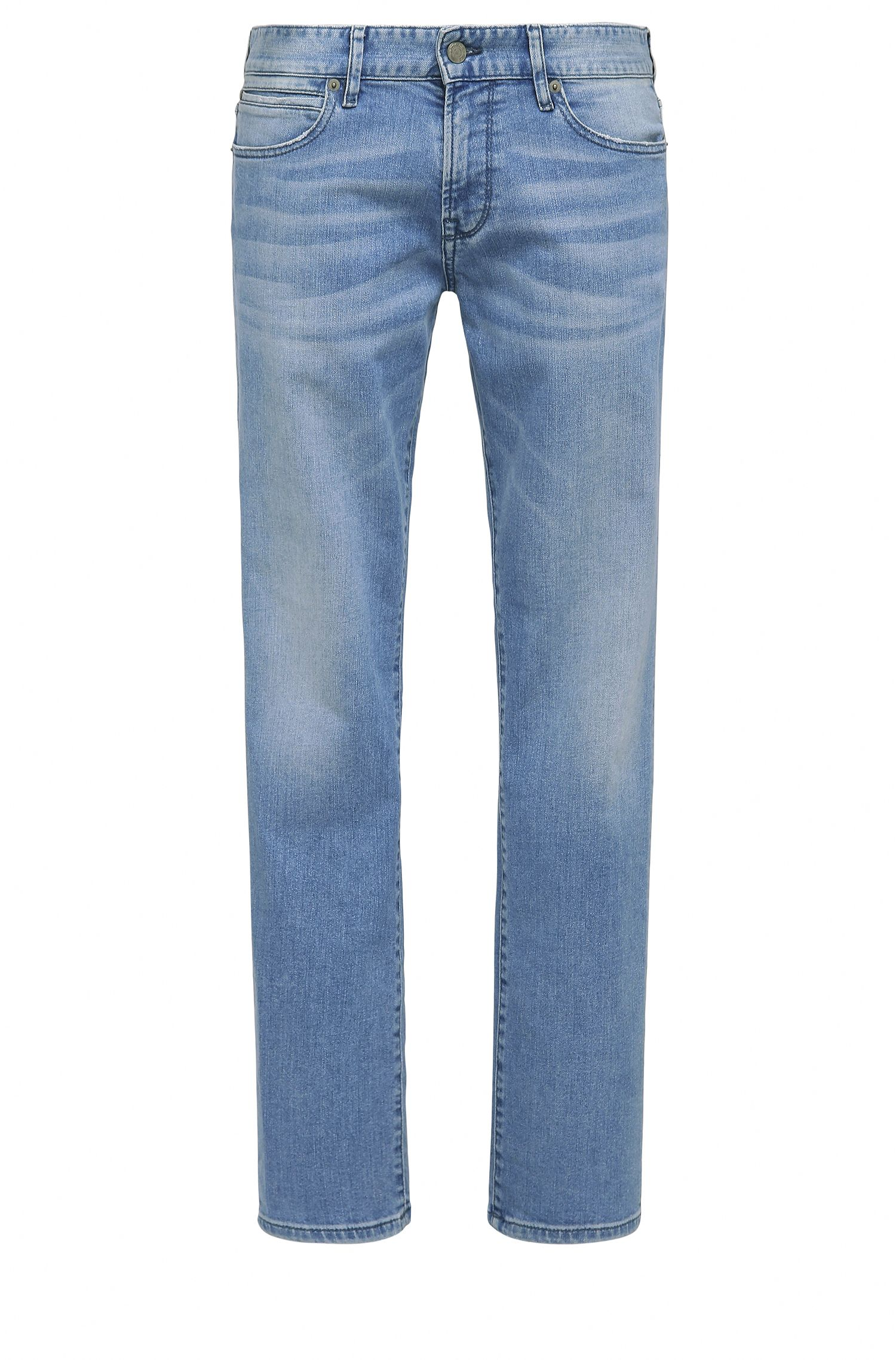 Jeans regular fit in misto cotone elasticizzato con trattamento di scoloritura: 'Orange24 Barcelona'