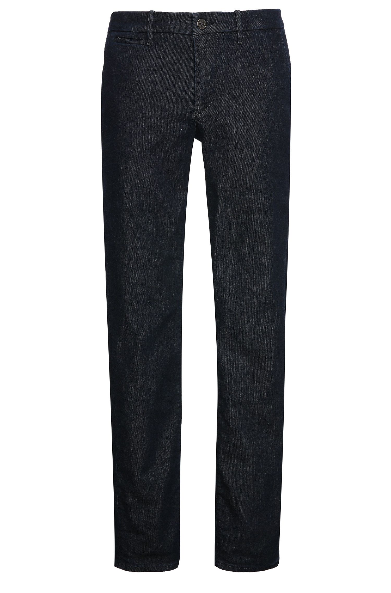 Slim-fit jeans in textured cotton blend with elastane: 'Orange62 Chester'