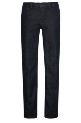 Slim-fit jeans in textured cotton blend with elastane: 'Orange62 Chester', Dark Blue