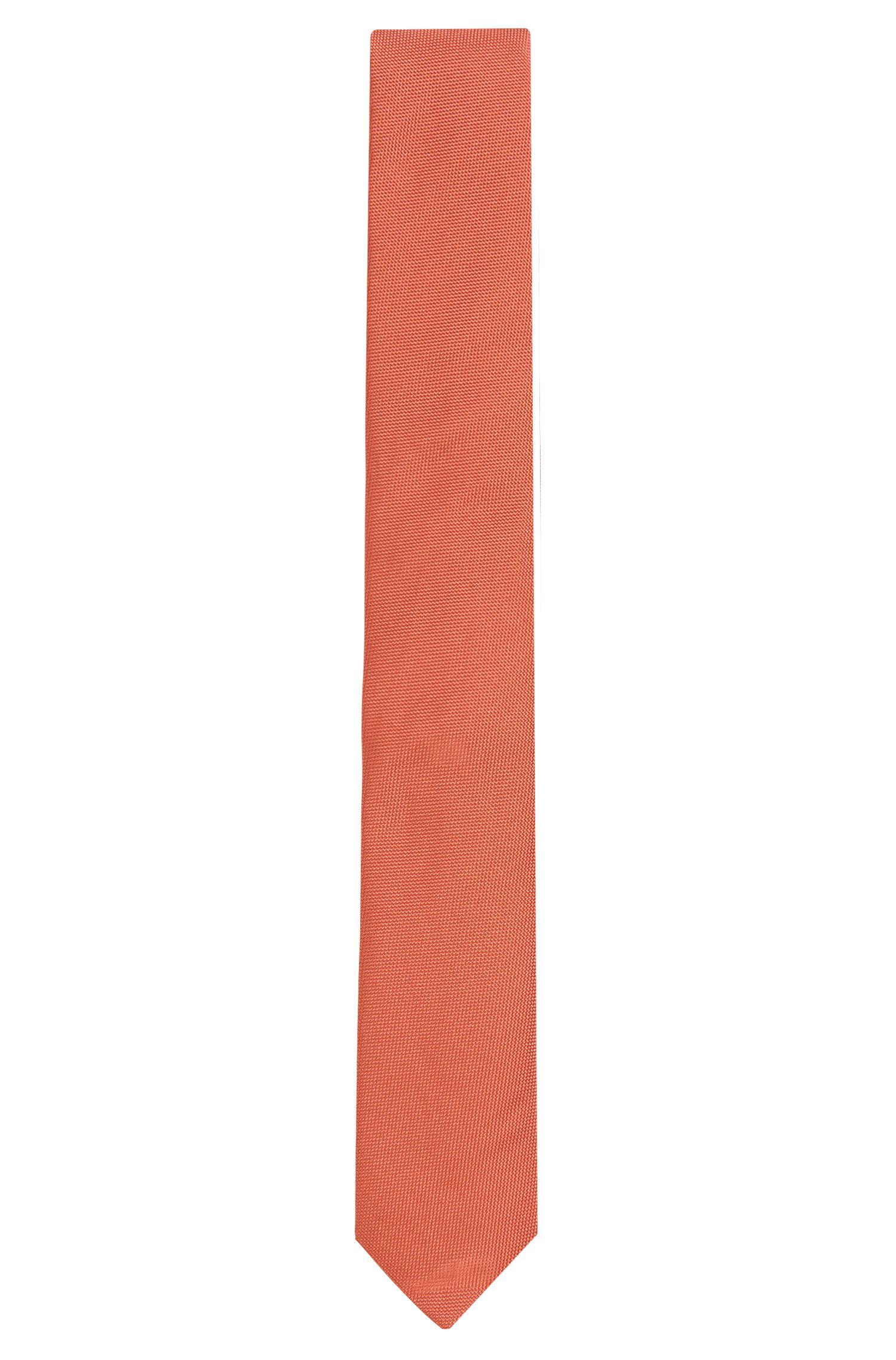 Cravate en soie finement structurée: «Tie 6cm»