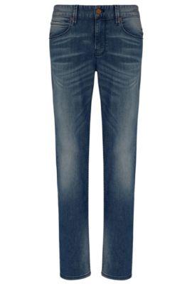 Jeans Slim Fit en coton mélangé à de l'élasthanne: «Orange63», Bleu