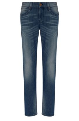 Slim-fit jeans in cotton blend with elastane: 'Orange63', Blue