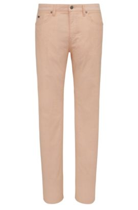 Jeans Slim Fit en coton stretch : « C-Delaware3-20 », Orange clair