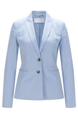 Getailleerde blazer van stretchkatoen: 'Jelany', Turkoois