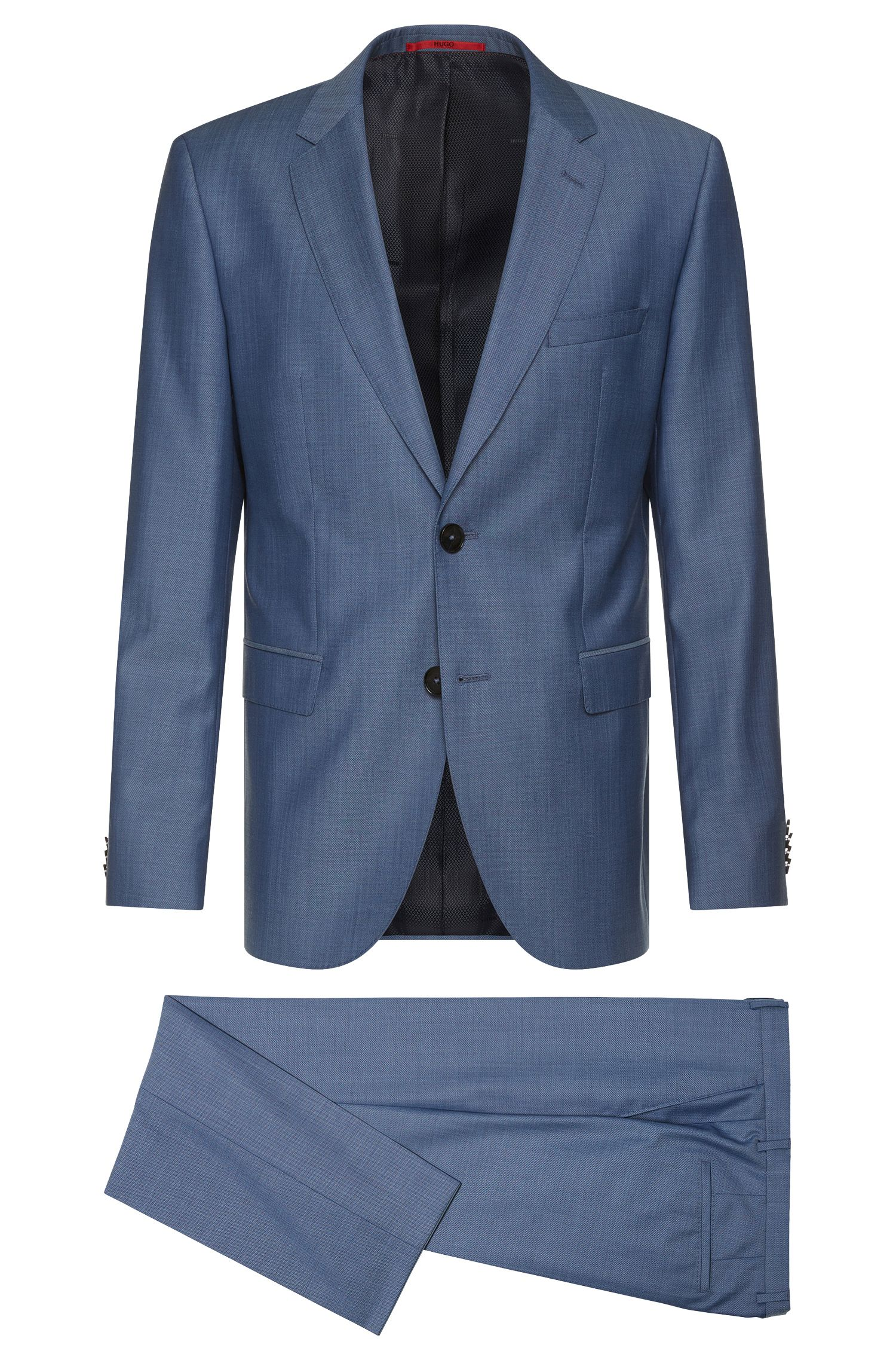 Regular-fit suit in finely textured new wool: 'C-Jeffery/C-Simmons'
