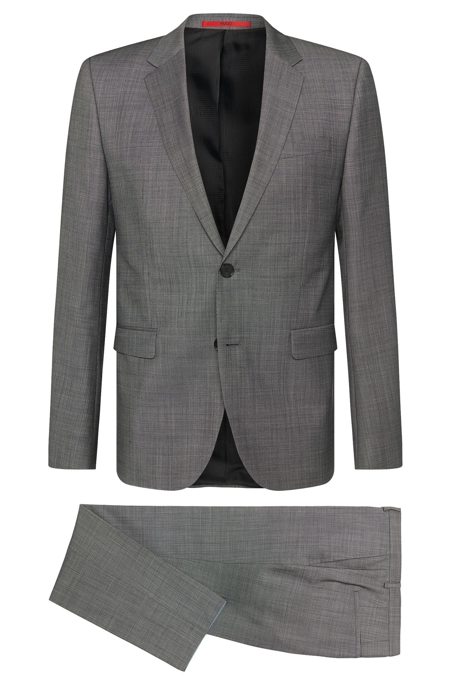 Slim-fit suit in new-wool blend: 'Astian/Hets'