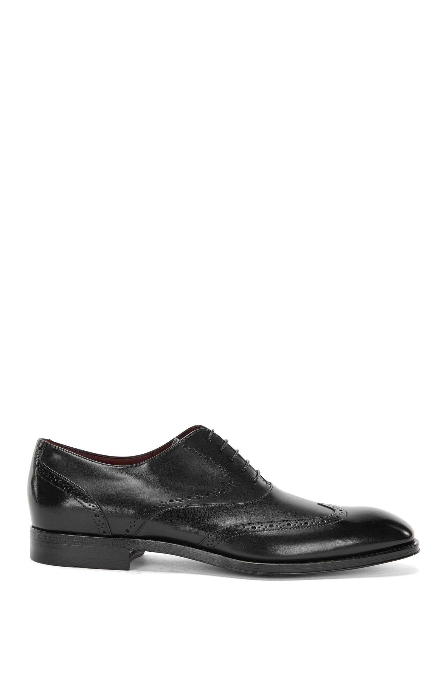 Tailored leather lace-up shoes in brogue style: 'T-Legend_Oxfr_wt'