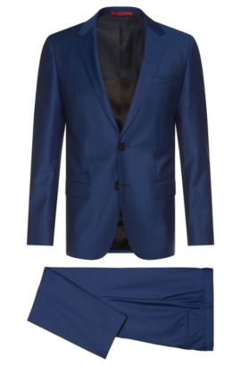 Abito slim fit in lana vergine finemente lavorata: 'C-Huge1/C-Genius', Blu