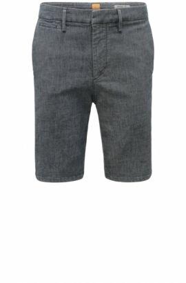 Regular-Fit Shorts aus Stretch-Baumwolle mit Textur: ´Orange37 Short`, Blau