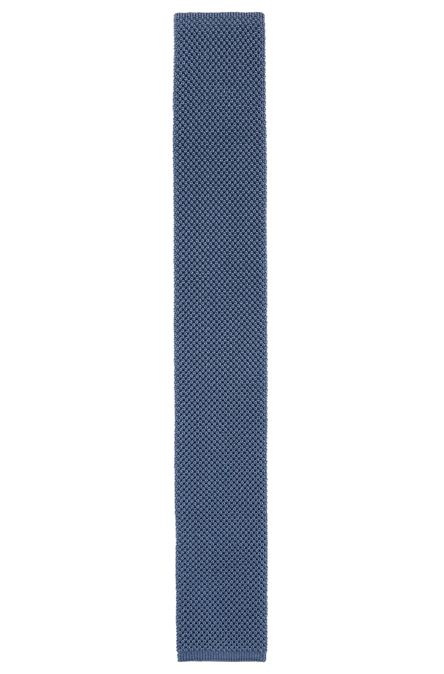 Tailored knitted tie in silk: 'T-Tie 6 cm knitted'