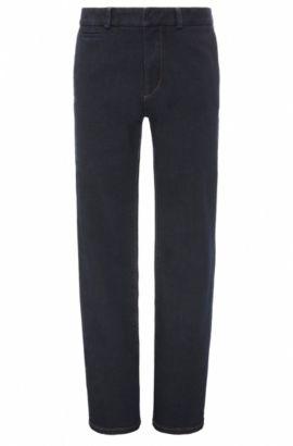 Regular-Fit Jeans aus elastischem Baumwoll-Mix mit ausgestellten Beinenden: ´Orange80`, Dunkelblau
