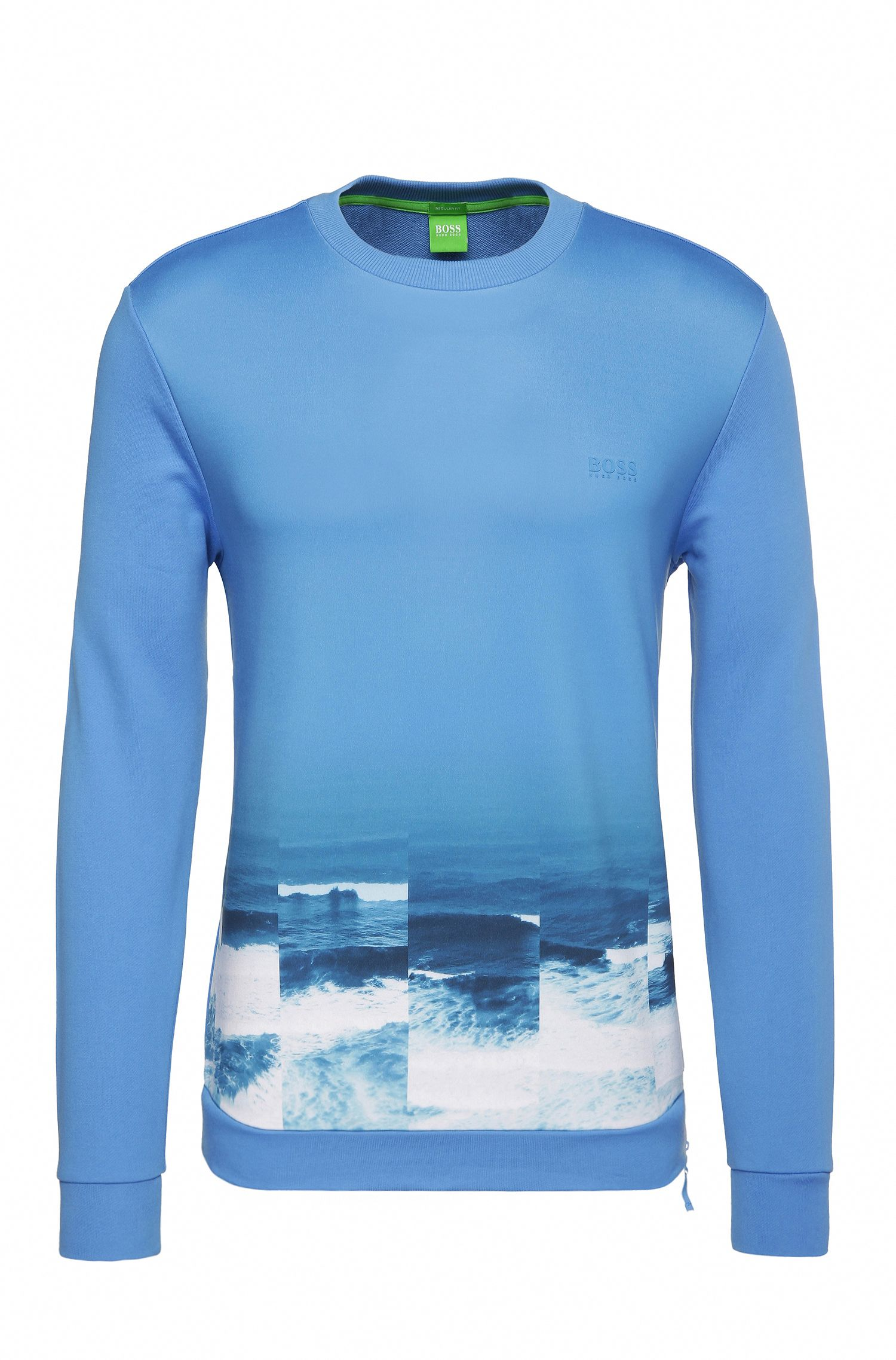 Jersey estampado regular fit en algodón: 'Salbon'