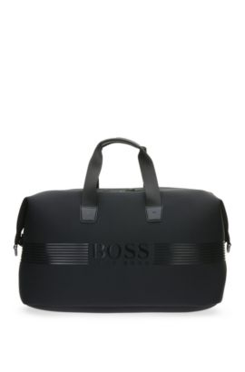 Holdall in smooth material blend: 'Pixel N_Holdall', Black