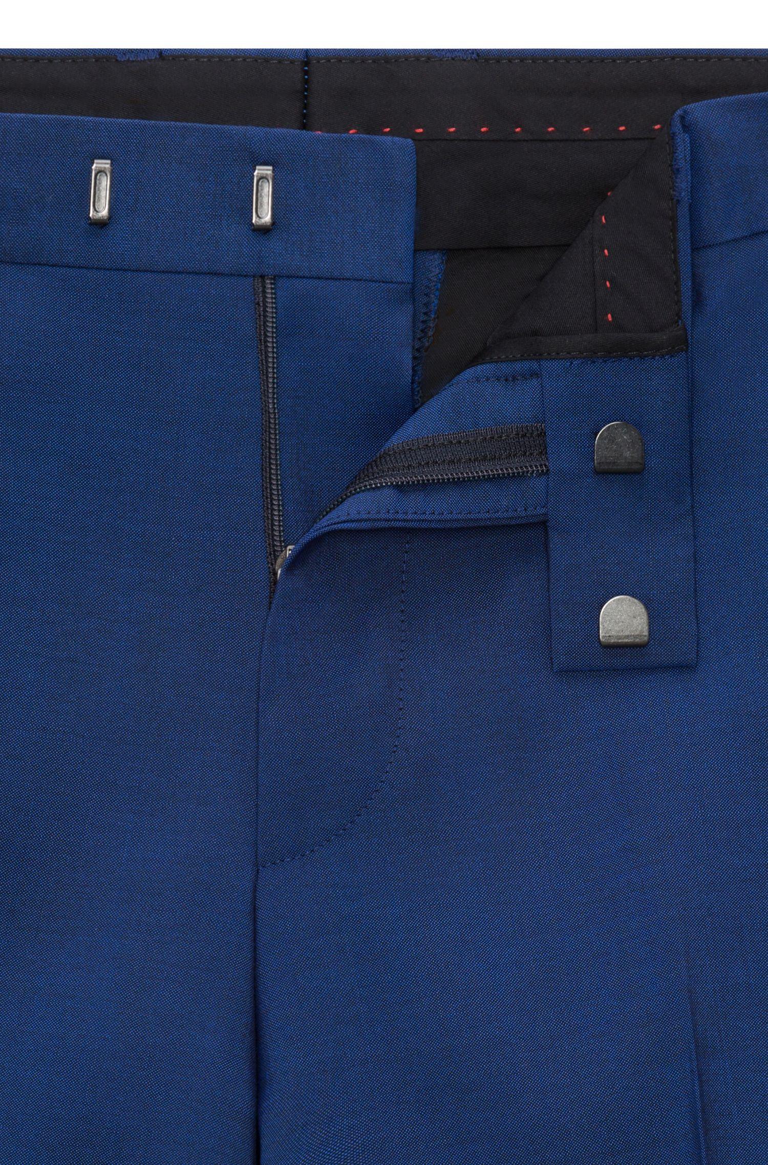 Traje con chaleco slim fit en lana virgen con efecto mohair