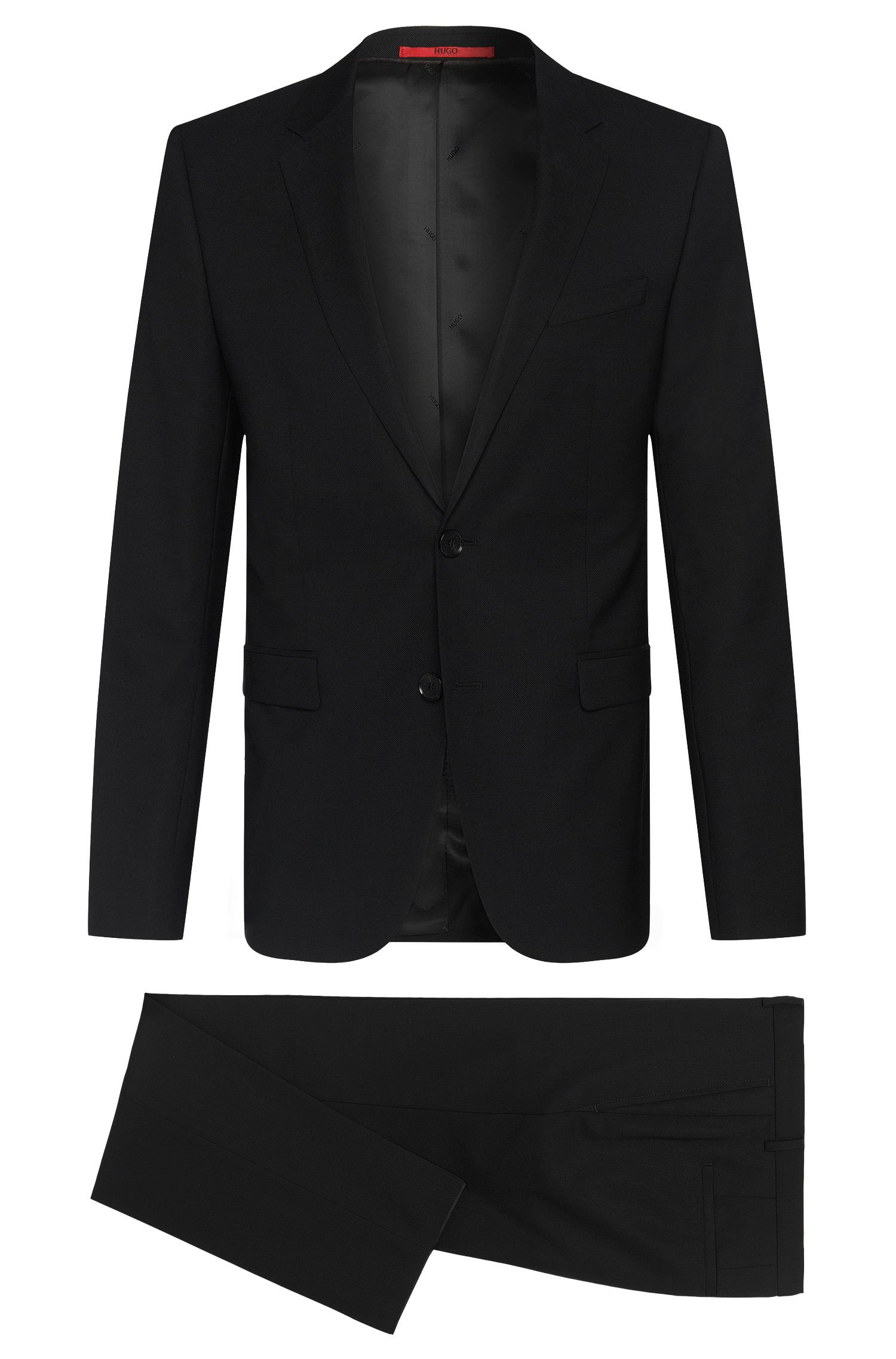 Textured slim-fit suit in new wool: 'Astian/Hets'