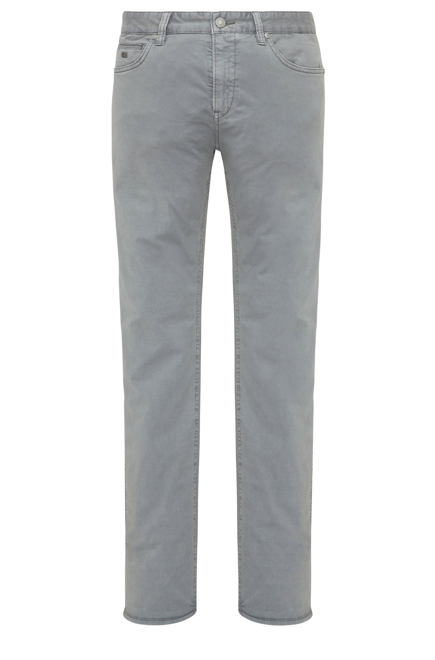 Slim-fit trousers in stretch cotton: 'C-Delaware3-3-20'