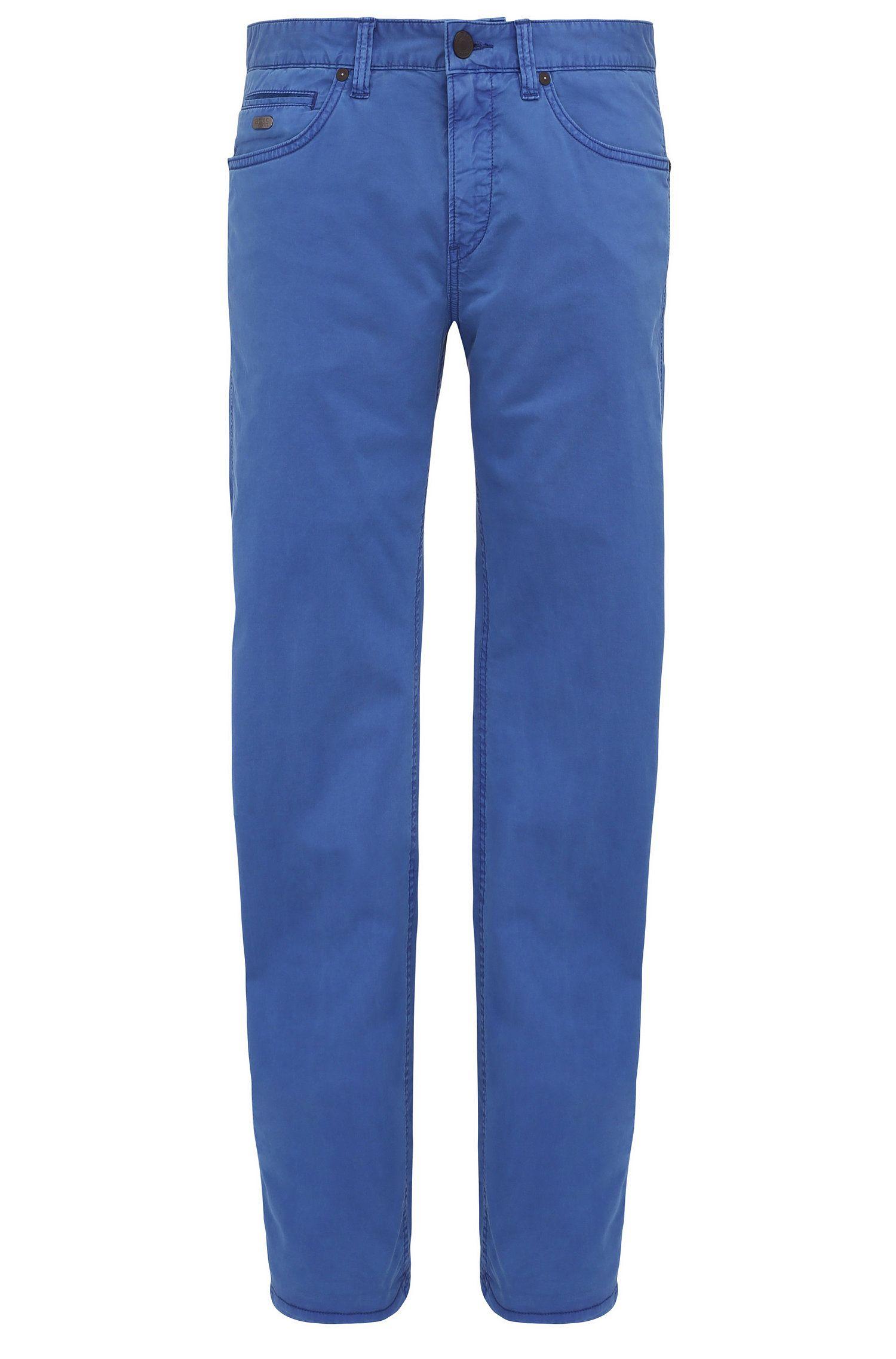 Slim-fit broek van elastische katoen: 'C-Delaware3-3-20'