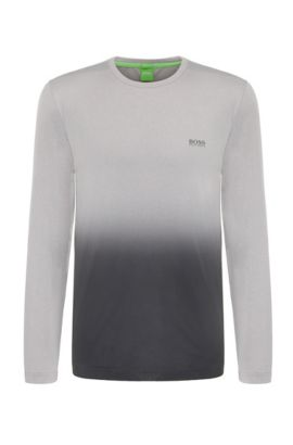 Extra slim-fit sweatshirt in stretchy material blend: 'Tubotech', Light Grey
