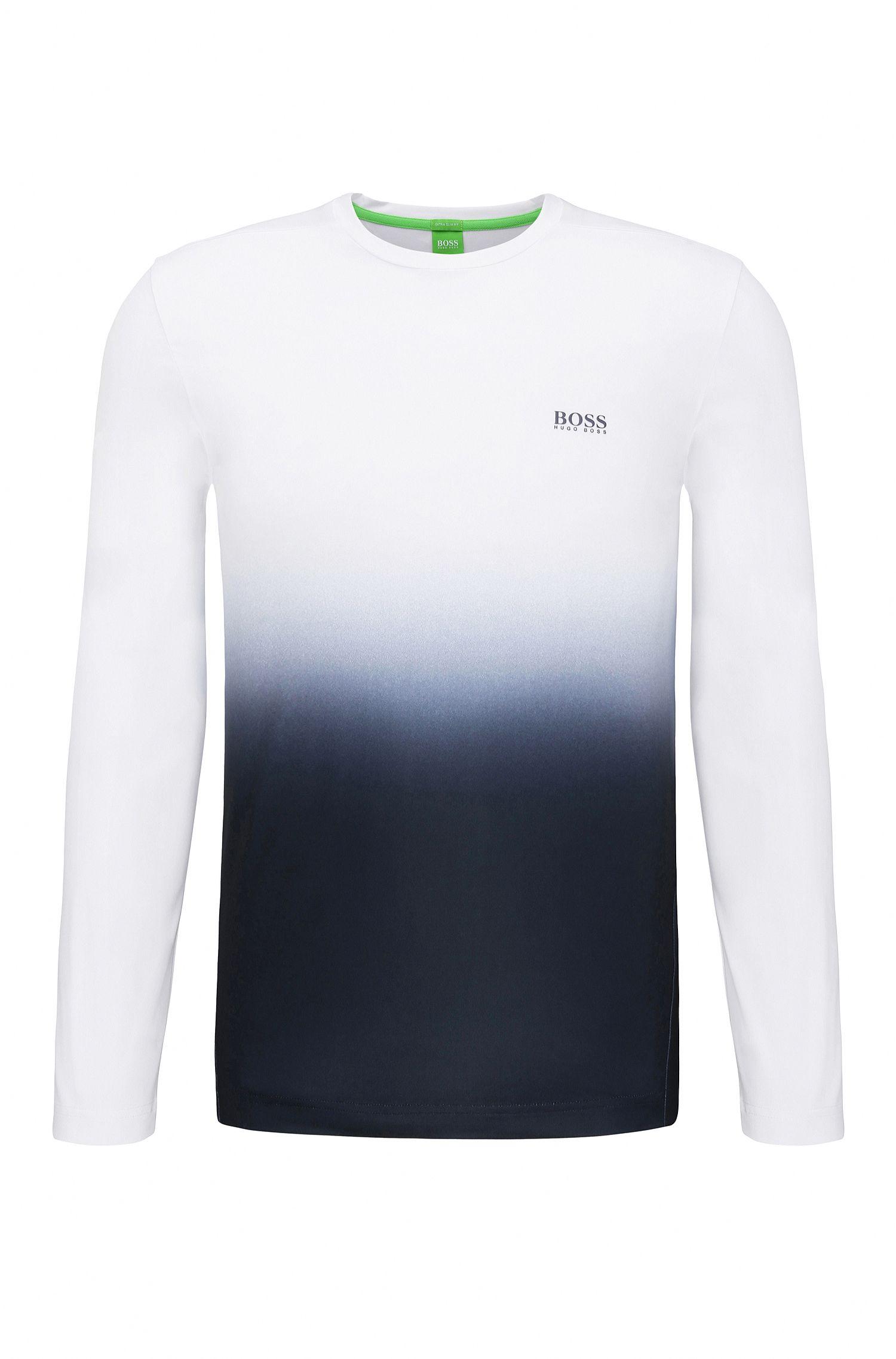 Extra slim-fit sweatshirt van een elastische materiaalmix: 'Tubotech'