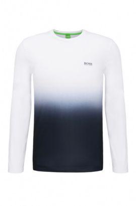 Extra Slim-Fit Sweatshirt aus elastischem Material-Mix: ´Tubotech`, Weiß