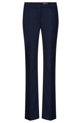 Pantalón regular fit con raya en mezcla de lana elástica: 'Tamea7', Fantasía