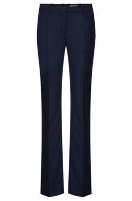 Pantalon à plis marqués Regular Fit en laine mélangée extensible: «Tamea7», Fantaisie