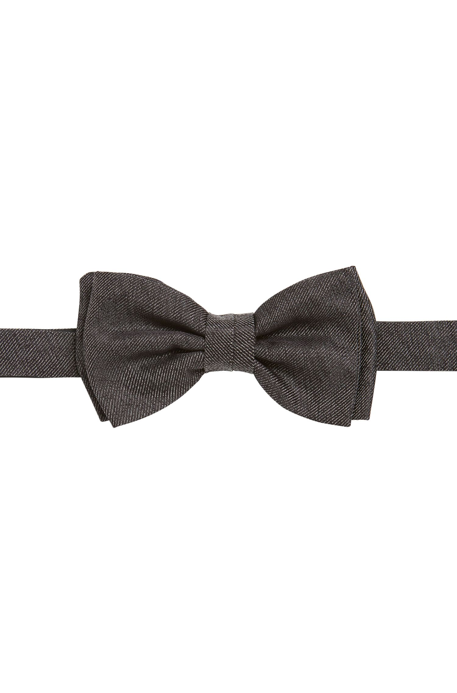 Denim-look silk bow tie: 'Bow tie fashion'