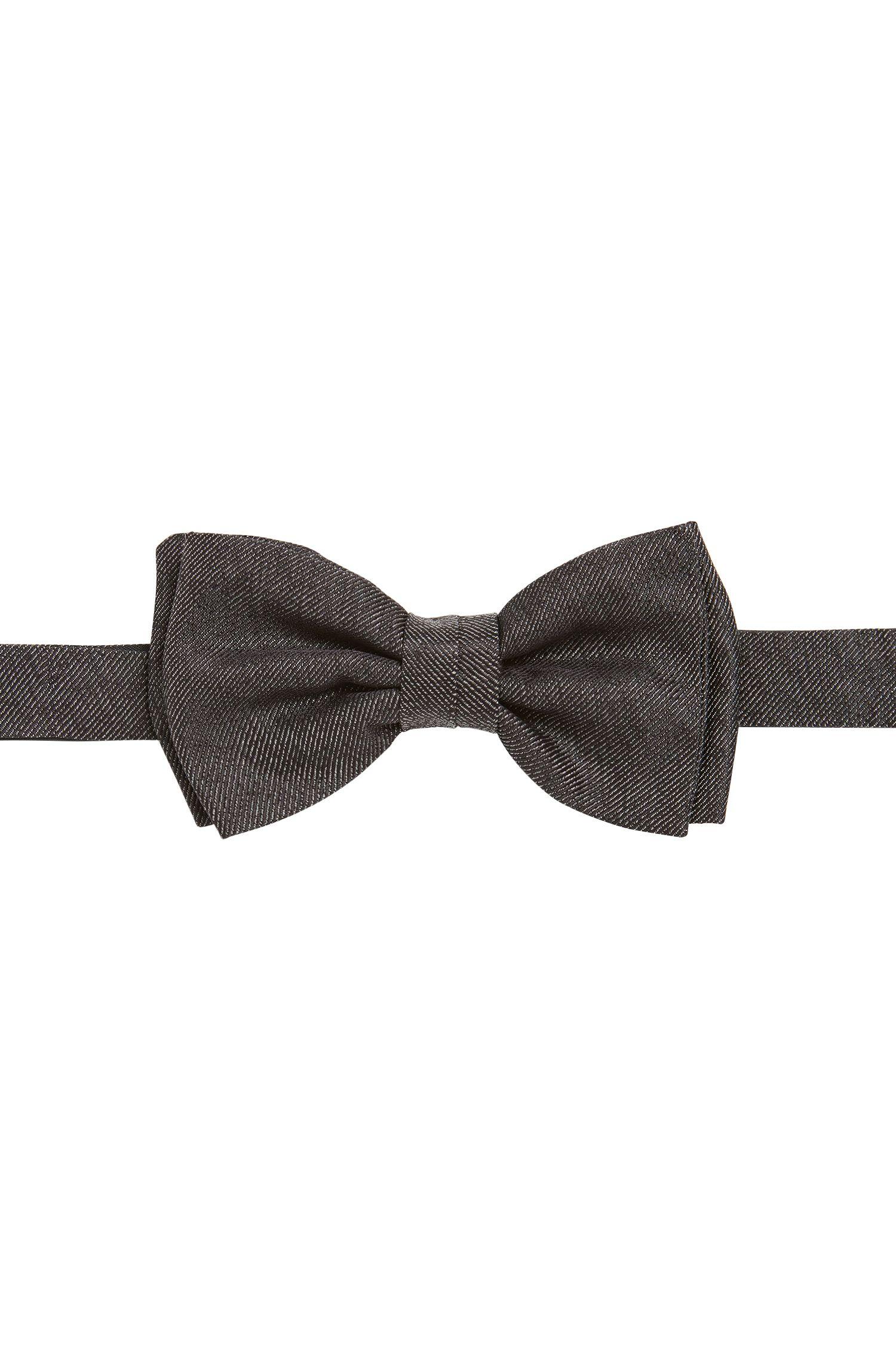 Vlinderdas van zijde in denimlook: 'Bow tie fashion'