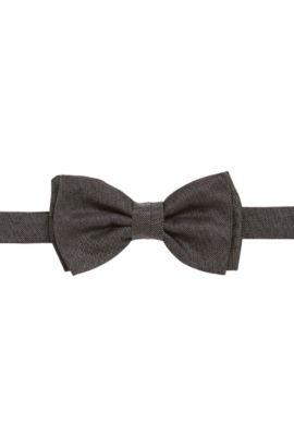 Pajarita de seda en imitación denim: 'Bow tie fashion', Gris marengo