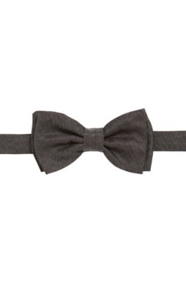 Nœud papillon en soie finition denim : « Bow tie fashion », Anthracite