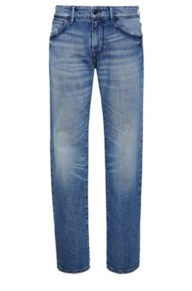 Regular-fit jeans in cotton blend: 'Orange24 Barcelona', Blue