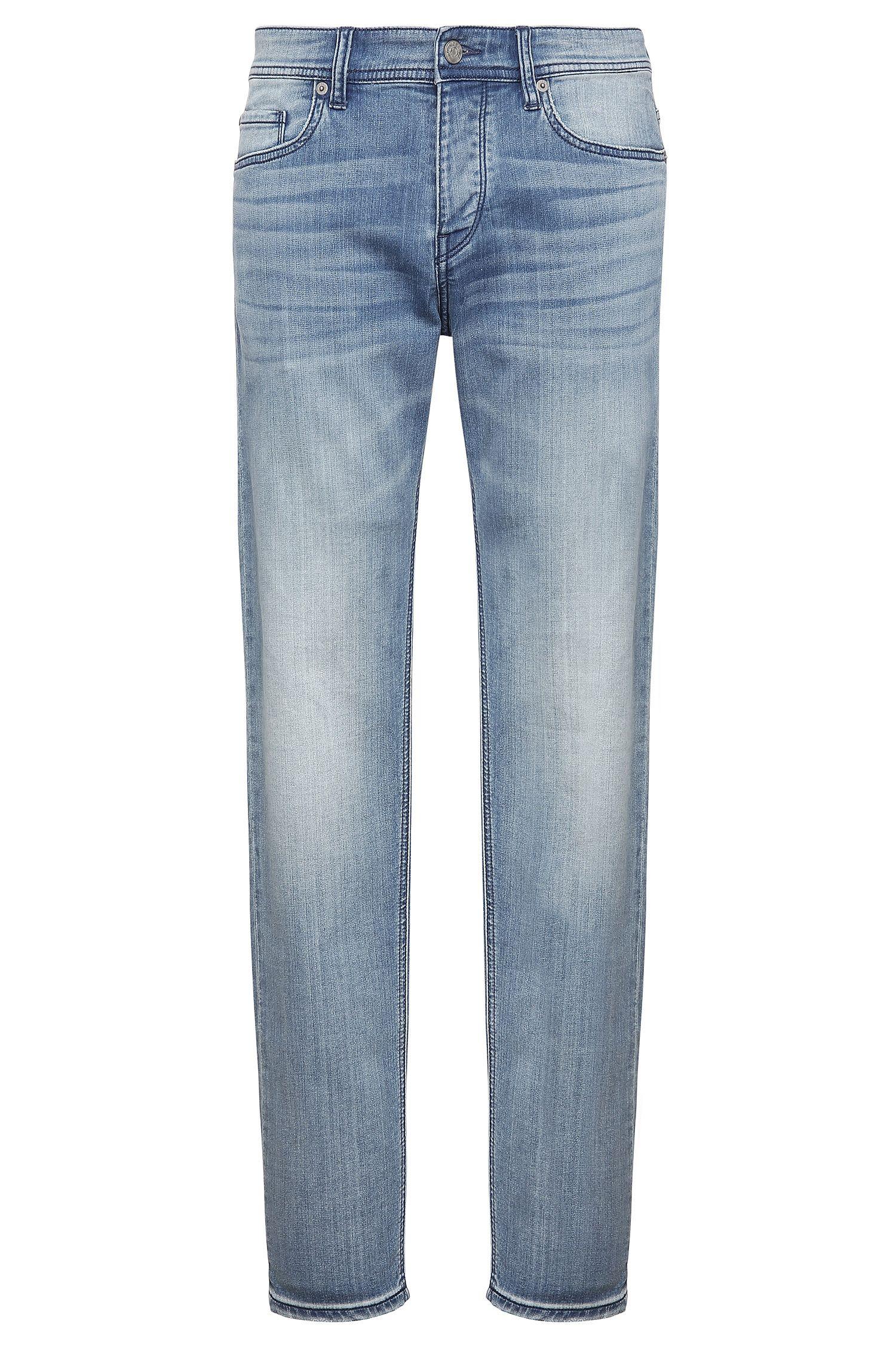 Jeans Tapered Fit en coton extensible mélangé: «Orange90»