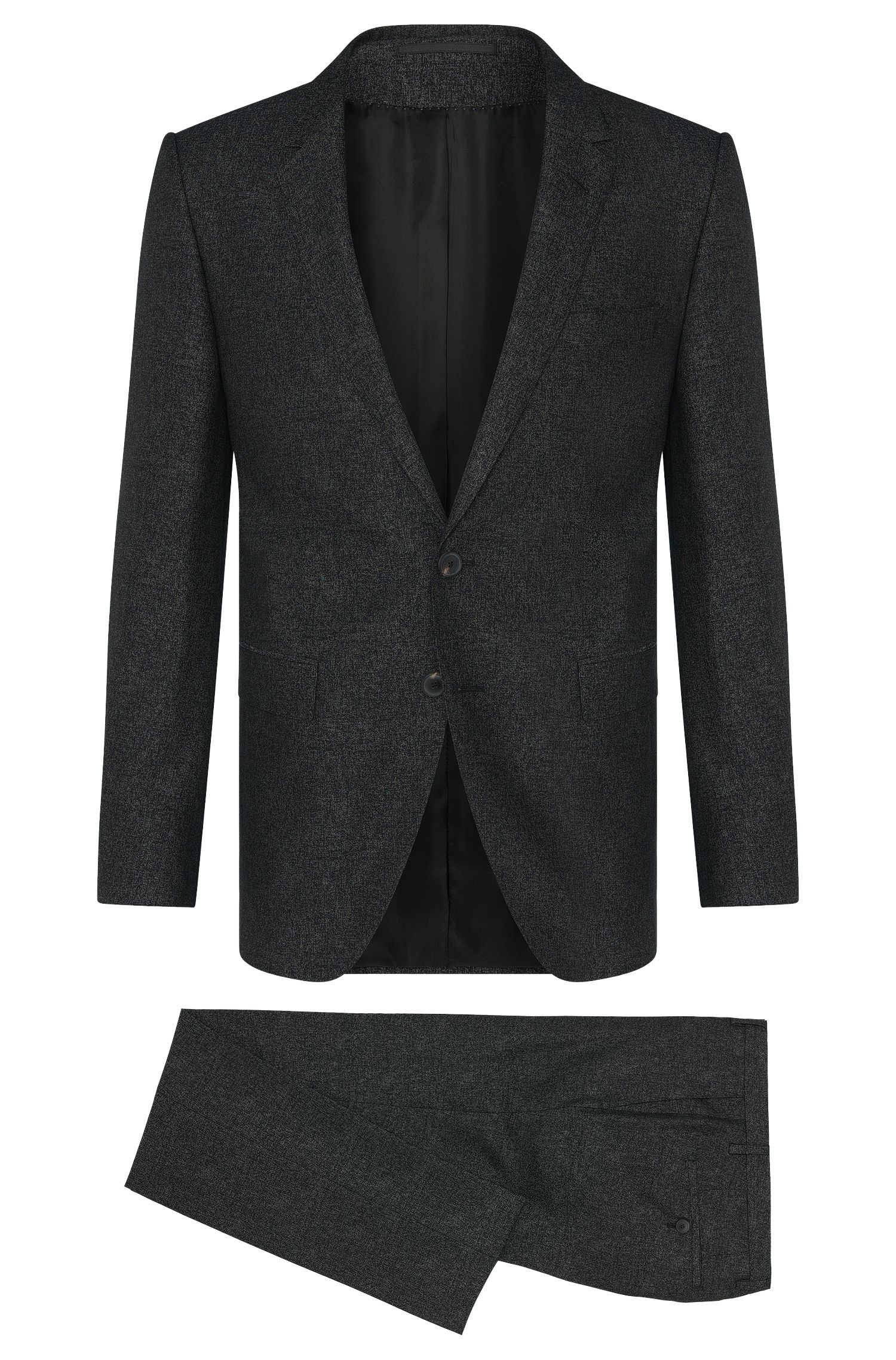 Extra slim-fit Tailored suit in new-wool blend with silk: 'T-Reeve1/Wain'