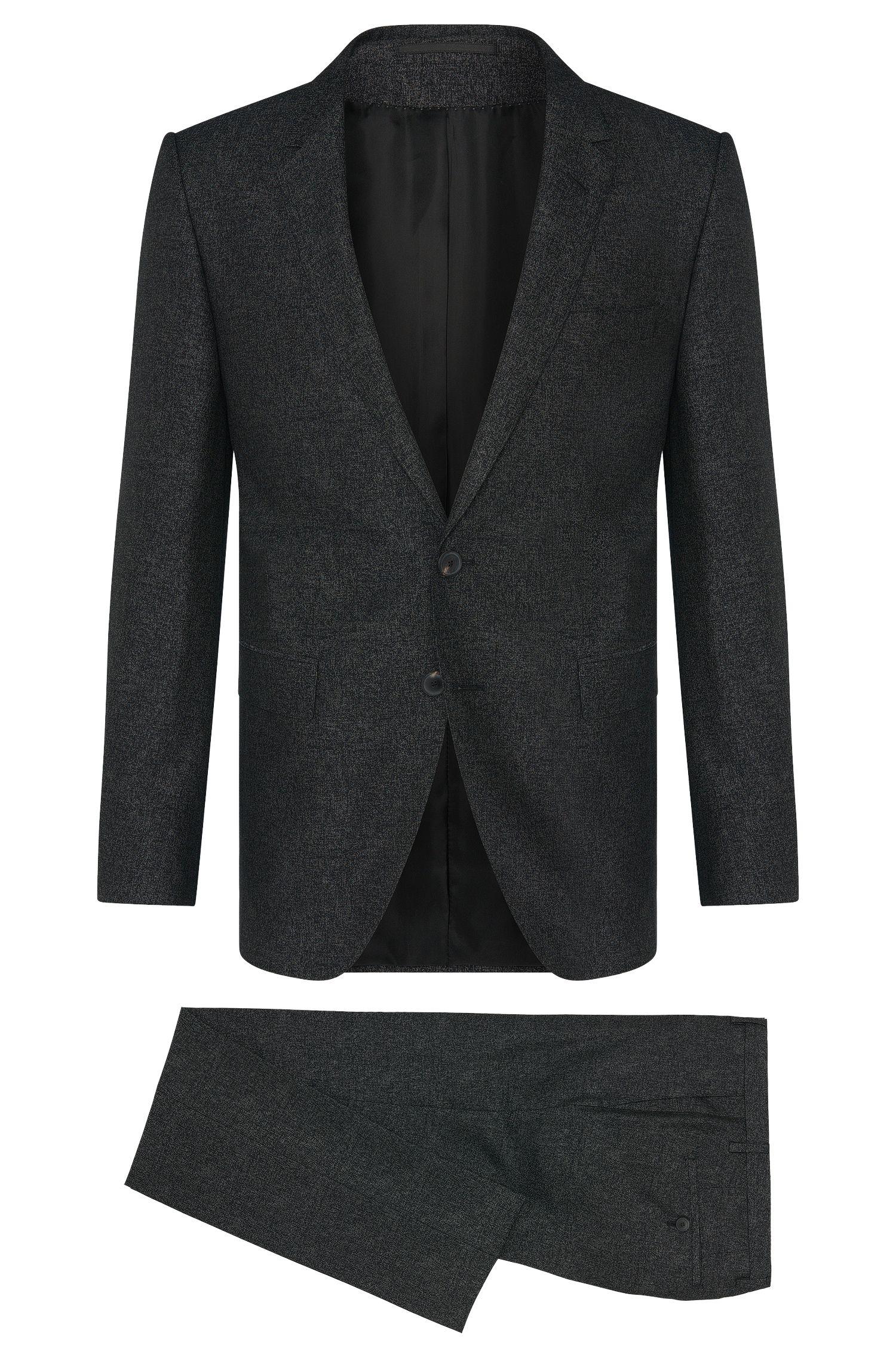 Traje extra slim fit de la línea Tailored en mezcla de lana virgen con seda: 'T-Reeve1/Wain'